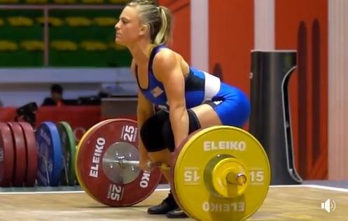 Morghan King : clean and jerk à 103 kg pour 49 kg de poids de corps !