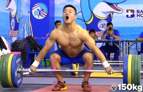 Quand tu fais 150 kg en snatch à l'entraînement et que ça passe facile…