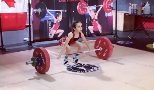 31 kg en snatch et 40 kg en clean and jerk pour Ivy BB – 10 ans