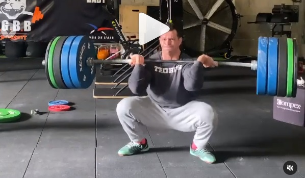 Squat Clean à 160 kg pour Alexandre Jolivet !