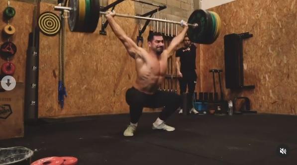 Complex snatch à 110 kg pour Gauthier Lacroux !