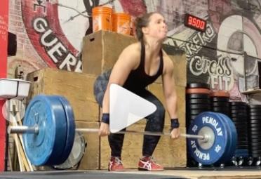 5 sets de 5 power clean à 95 kg pour Rosalie Dumas !